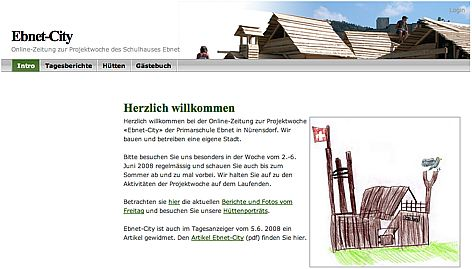 Ebnet-City, Website zur Projektwoche